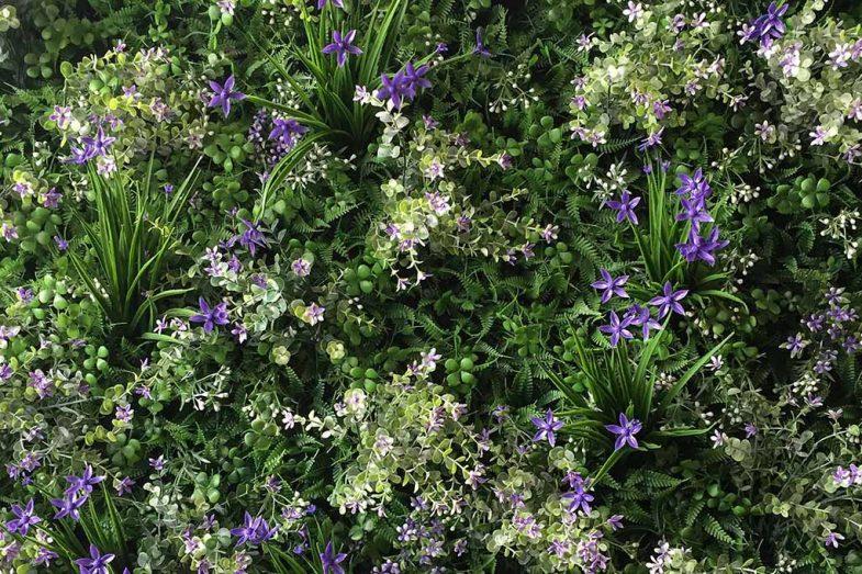 Artificial Greenwall Lavender Scent 02